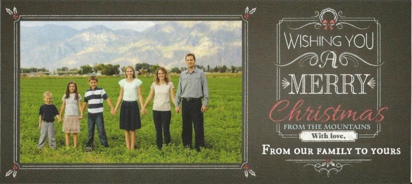Christmas card for blog